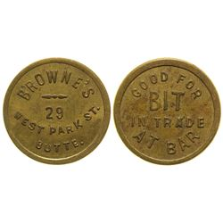 Browne's Bar Token (Butte, Montana)