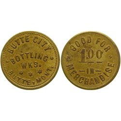 Butte City Bottling Works Token ($1) (Butte, Montana)