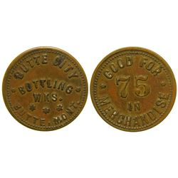 Butte City Bottling Works Token (75c) (Butte, Montana)
