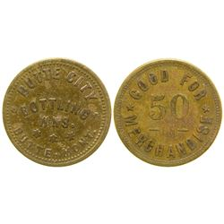 Butte City Bottling Works Token (50c) (Butte, Montana)