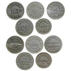 Butte Drink Tokens (Butte, Montana)