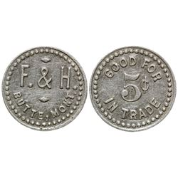 F & H: Smallest Token Known (Butte, Montana)