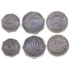 Set of Hennessy's Tokens (Butte, Montana)