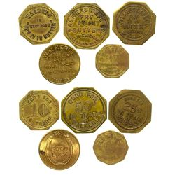 Walker's Cafe Token Set (Butte, Montana)