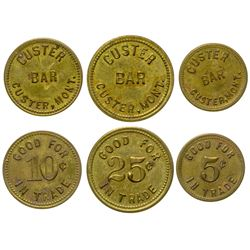 Custer Bar Token Set (Custer, Montana)