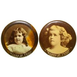 Pair of Board of Trade Advertising Mirrors (Great Falls, Montana)