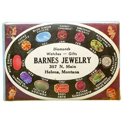 Barnes Jewelry Advertising Mirror (Helena, Montana)