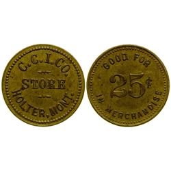 C. C. I. Co. Token (R-10) (Holter, Montana)