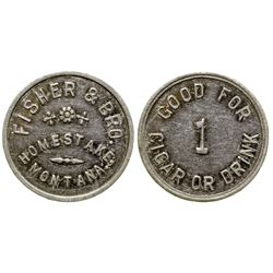 Fisher & Bro. Token (Homestake, Montana)