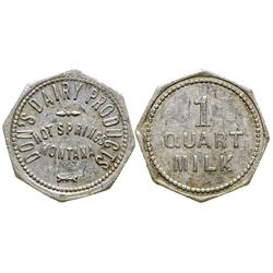 Don's Dairy Products Token (Hot Springs, Montana)