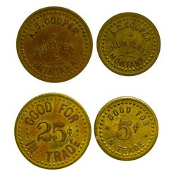 A.C. Cooper Tokens (Huntley, Montana)