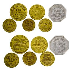 Livingston Bar Tokens (Livingston, Montana)