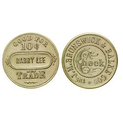 Harry Lee, Brunswick-Balke Token (Livingston, Montana)