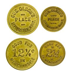 Gus Olson's Place Tokens (Livingston, Montana)