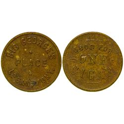 Big George's Place Token (Logan, Montana)