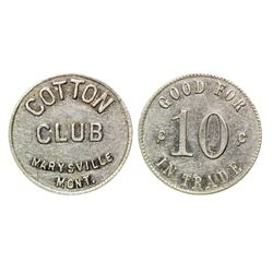 Cotton Club Token (Marysville, Montana)