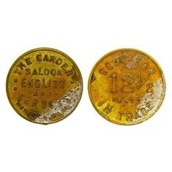 The Garden Saloon Token (Monarch, Montana)