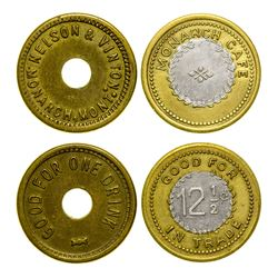 Nelson & Vinton and Monarch Cafe Tokens (Monarch, Montana)