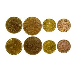 Great Northern Hotel & Billiard Token Set (Mondak, Montana)