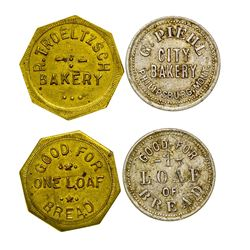 Philpsburg Bakery Tokens (Philipsburg, Montana)