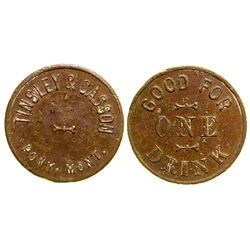 Tinsley & Casson Token (Pony, Montana)
