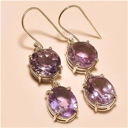 amethyst Earring Solid Sterling Silver