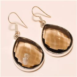 Smokey Quartz Earring Solid Sterling Silver