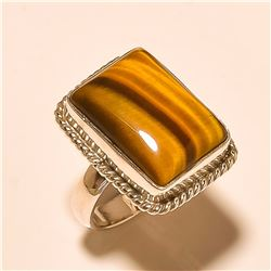 Tiger Eye RING Solid Sterling Silver