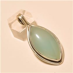 Chalcedony Pendant Solid Sterling Silver