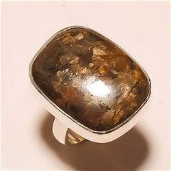 Bronzite RING Solid Sterling Silver