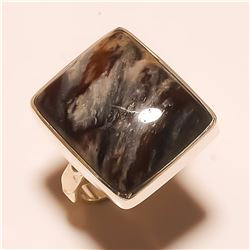 Brown Jasper RING Solid Sterling Silver