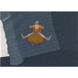 Original Production Cel & Background from the Video Game Dragon's Lair (Don Bluth Studios, 1983)