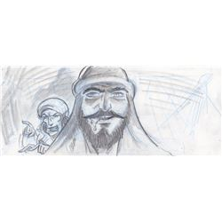 Original Hank Tucker Storyboards from Sinbad: Legend of the Seven Seas (DreamWorks Animation, 2003)