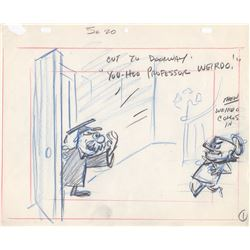 Original Animation Storyboard from Milton the Monsters (Hal Deeger Productions, 1965)