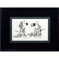 Framed Rare Original 1963 Joe Harris Signed Drawing of Underdog