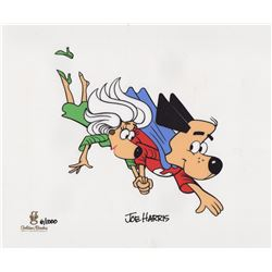 Limited Sericel of Underdog & Sweet Polly Purebred Signed by Joe Harris (Golden Books, 1990's)