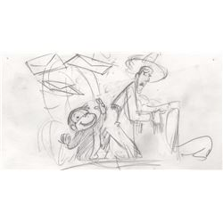 Original Hank Tucker Storyboard Drawings from Curious George (Universal Pictures, 2006)