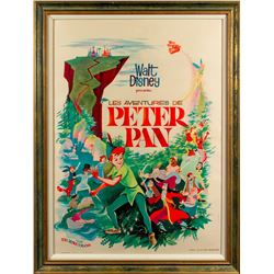 Original French One Sheet Poster for Peter Pan (Disney 1950)