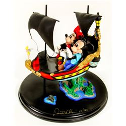 David Kracov Limited Edition Mickey & Minnie Mouse in Peter Pan Ride Car Display