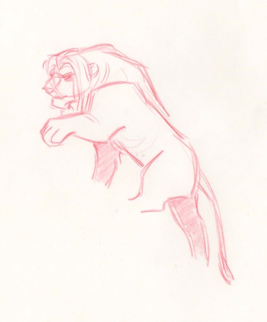 Image 2 Original Production Drawing Of Simba From The Lion King Disney 1994