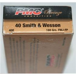*AMMO* PMC 40E Bronze 40 Smith & Wesson Full Metal Jacket Flat Point 180 GR (500 ROUNDS) 74156907045