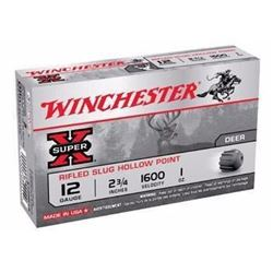 "*AMMO* Winchester X12RS15 Super-X Rifled Lead 12 ga 2.75"" 1 oz Slug (250 shells) 020892000414"