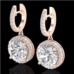 Natural 4.50 CTW Micro Pave Diamond Certified Designer Halo 14K Rose Gold - 23182-REF#-1545H4R