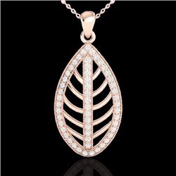 Natural 1 CTW Micro Pave Diamond Certified Designer Necklace 14K Rose Gold - 21545-REF#-64K3W