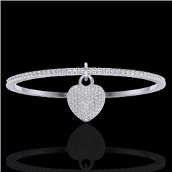 Natural 3.50 CTW Eternity Micro Pave Diamond Eternity Bangle 14K White Gold - 20037-REF#-186W8G