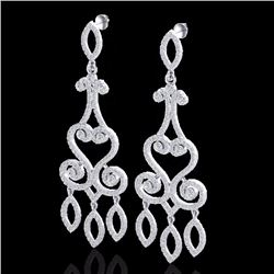Natural 3.25 CTW Diamond Certified Micro Pave Designer Earrings 14K White Gold - 22415-REF#-203Y4Z