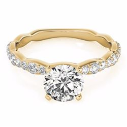 0.93 CTW Certified SI-I Diamond Solitaire Bridal  Ring 18K Yellow Gold - 27473-#93N9F