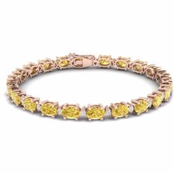 19.70 CTW CITRINE & DIAMOND SI-I CERTIFIED ETERNITY TENNIS BRACELET - 29364-#80A3K
