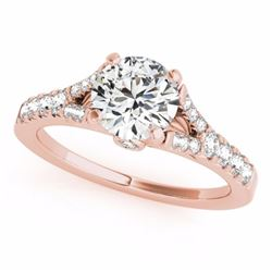 0.75 CTW Certified SI-I Diamond Solitaire Bridal  Ring 18K Rose Gold - 27631-#60M4G