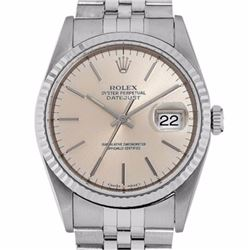 Pre-owned Excellent Condition Authentic Rolex Quickset Men's Stainless Steel DateJust Salmon Dial Wa